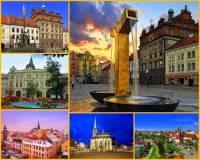 Město Plzeň na obrázku č.2 leží na soutoku 4 řek. Jak se řeky jmenují? Označ jejich jména: (náhled)