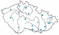 Která řeka je na slepé mapě označena číslem 2? (náhled)