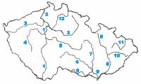 Která řeka je na slepé mapě označena číslem 8? (náhled)