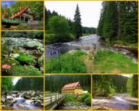 Kraj, kterým v kamenitém korytu protéká řeka na fotografii č.10, je chráněnou krajinnou oblastí. Řeka nemá pramen, vzniká soutokem potoků. Na konci jejího toku dochází k soutoku s jinou řekou. Soutok je začátkem řeky s novým názvem. Jak se řeka na fotografii č.10 jmenuje? (náhled)