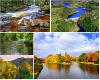 Jak se jmenuje řeka na fotografii č.14, která vzniká soutokem 2 řek odlišného charakteru? Na jedné z nich byla vybudována vodní nádrž. Řeka ústí v jednom krajském městě do jedné z nejvýznamnějších řek ČR. (náhled)