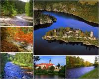 Řeka na obrázku č.17, která nemá pramen, ale vzniká soutokem 2 řek, protéká Prácheňským krajem a pod jedním z nejznámějších gotických hradů v ČR ústí do jedné z nejvýznamnějších řek ČR, se jmenuje: (náhled)