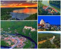 Jak se jmenuje řeka na fotografii č.18, která vzniká soutokem 2 řek? Byla na ní vybudována vodní nádrž, protéká úrodnou nížinou, pod historickými objekty i historickým městem a je největším přítokem jedné z nejvýznamnějších řek ČR. (náhled)