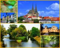 Jak se jmenuje řeka na obrázku č.23 pramenící na území ČR? Protéká několika většími městy a jedním krajským, ve kterém ústí do větší řeky. (náhled)