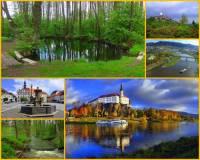 Jak se jmenuje řeka na fotografii č.24 pramenící pod známou českou horou? Koryto řeky tvoří četné meandry, protéká několika městy a v jednom z nich ústí do jedné z nejvýznamnějších řek ČR. (náhled)