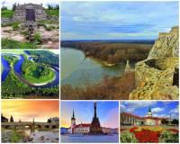 Jak se jmenuje řeka na fotografii č.2, která pramení na úbočí známé hory, protéká pod 3. nejstarším dochovaným kamenným mostem v ČR, historickými městy a ústí do jedné z významných evropských řek? (náhled)