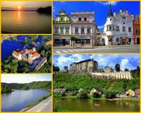 """Řeka na fotografii č.4, která je často nazývána """"Zlatou řekou"""", patří k nejznámějším řekám v ČR. Vytéká z rybníka, protéká krajinou s historickými městy a hrady a je důležitým přítokem jedné z našich nejvýznamnějších řek. Jak se řeka jmenuje?  (náhled)"""