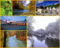 Jak se jmenuje řeka na obrázku č.7, která pramení na našem území, protéká historickými městy i chráněnou krajinnou oblastí a je přítokem jedné z našich nejvýznamnějších řek? (náhled)