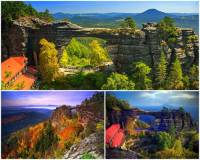 Jak se jmenuje národní přírodní památka na fotografii č.16, která je považována za nejkrásnější útvar v celé oblasti, kde se nachází. Ve které chráněné oblasti mohou turisté obdivovat přírodní unikát na fotografii č.16? (náhled)