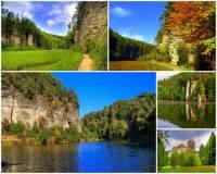 Malebné údolí na obrázku č.6, které bylo díky svým přírodním krásám vyhlášeno přírodní rezervací se jmenuje: (náhled)