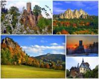 Přírodní park se skalními městy a zříceninami hradů na fotografii č.8, který je chráněným územím ležícím z části v Českém ráji se jmenuje: (náhled)