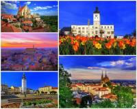 Ve kterém kraji mohou turisté navštívit města na fotografii č.28? (náhled)