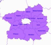 Kraj, ve kterém jsou okresy na obrázku č.8, se nazývá: (náhled)