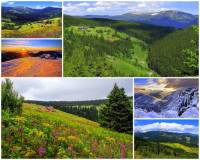 Na území kterých krajů ČR se rozkládá pohoří Krkonoše na fotografii č.1? (náhled)