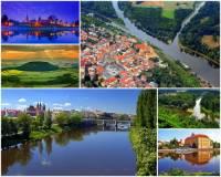 Krajina rozkládající se po obou březích středního toku nejvodnatější řeky v ČR, kterou charakterizuje fotografie č.4, se nazývá: (náhled)