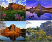 Jak zní oficiální název turisticky navštěvované národní přírodní památky na fotografii č.15? (náhled)