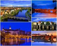 Jak se jmenuje město s nejstarším dochovaným kamenným mostem v ČR na fotografii č.4? Přes který vodní tok se nejstarší dochovaný kamenný most klene? (náhled)
