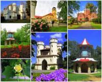 Ve kterém městě se nachází zámek, v jehož zámeckém parku byly postaveny romantické stavby na fotografii č.21 a učinily z něho tak jeden z nejromantičtějších parků v ČR? (náhled)