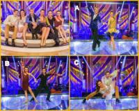 Na fotografii č.1 jsou všichni finalisté letošní taneční soutěže StarDance. Jakým písmenem je označen taneční pár, který se stal králem a královnou tanečního parketu v soutěži SD v r. 2019? (náhled)