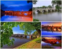 Ve kterém městě stojí a jak se jmenuje nejstarší kamenný most v ČR na fotografii č.6?  (náhled)