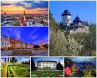 Označte přírodní a stavební památky ČR na fotografii č.12, které jsou zapsány na seznamu UNESCO: (náhled)