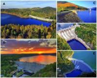 Která přehradní nádrž je na fotografii č.8 označena písmenem B? (náhled)