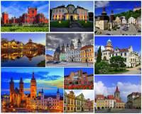 Ve kterém kraji se nacházejí města a zámky na fotografii č.10? (náhled)