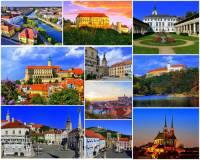 Který kraj charakterizují města, hrad a zámky na fotografii č.17? (náhled)