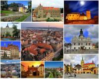 Který kraj charakterizují města, hrad a zámky na fotografii č.3? (náhled)