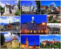 Města, zámky a hrad na fotografické koláži č.6 mohou turisté navštívit v kraji: (náhled)