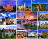 Který kraj charakterizují města, hrad a zámky na fotografii č.8? (náhled)