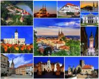 Města, zámky a hrad na fotografické koláži č.12 mohou turisté navštívit v kraji:  (náhled)