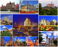 Města a zámky na fotografické koláži č.22 mohou turisté navštívit v kraji:  (náhled)