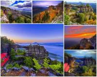 Jak se jmenuje národní přírodní památka na fotografii č.1, která je považována nejen za nejkrásnější útvar v celé oblasti, kde se nachází, ale je i největším přirozeným skalním mostem v Evropě? (náhled)