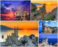 K nejkrásnějším místům Evropy patří i letovisko s pohádkovou stavbou na okraji skalního útesu na fotografii č.10. Jak se stavba jmenuje: (náhled)