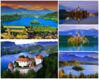 K nejkrásnějším místům Evropy patří i jezero s překrásnými přírodními scenériemi na obrázku č.4. Jak se jedno z nejkrásnějších evropských jezer jmenuje? (náhled)