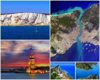Průliv je úzký pruh moře mezi 2 výběžky pevniny. Spojuje pobřežní vody s mořem nebo 2 různá moře. Nejširší průliv na světě se jmenuje: (náhled)