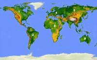 Pevnina tvoří jen necelých 30% zemského povrchu. Zemská pevnina je rozdělena na kontinenty. Který kontinent je označen č.1? (náhled)