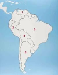Který jihoamerický stát je označen č.1? (náhled)