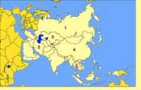 Který asijský stát je označen č.1? (náhled)