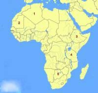 Který africký stát je označen č.1? (náhled)
