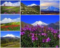 Hora Elbrus – nadm výška 5 642 m na fotografii č.11 -  je nejvyšší horou pohoří: (náhled)