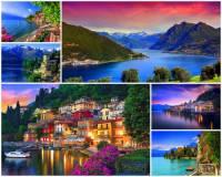 Ve které zemi se rozkládá jezero Como na fotografii č.19? (náhled)
