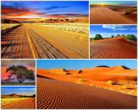 Označte státy, na jejichž území se rozkládá poušť Kalahari: (náhled)