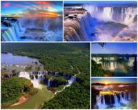 Označ státy mezi kterými tvoří přirozenou hranici řeka se světoznámými vodopády na fotografii č.18?  (náhled)