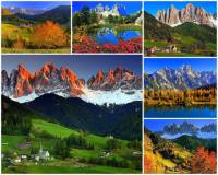 Na kterém kontinentu se vypíná pohoří Dolomity?  (náhled)