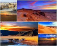 Označte státy, na jejichž území se rozkládá poušť Gobi: (náhled)