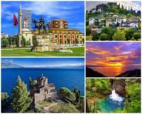 Vyber a označ moře, která omývají pobřeží Albánie: (náhled)
