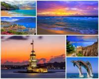 Vyber a označ moře, která omývají pobřeží Turecka: (náhled)