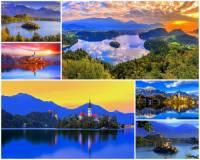 K nejkrásnějším místům světa patří i jezero s překrásnými přírodními scenériemi na fotografii č.6. Jak se jedno z nejkrásnějších jezer světa jmenuje? (náhled)